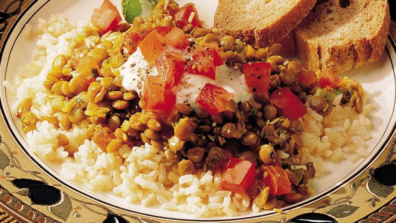 Indian Lentils and Rice