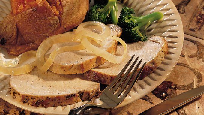Slow-Cooker Garlic Pork Roast