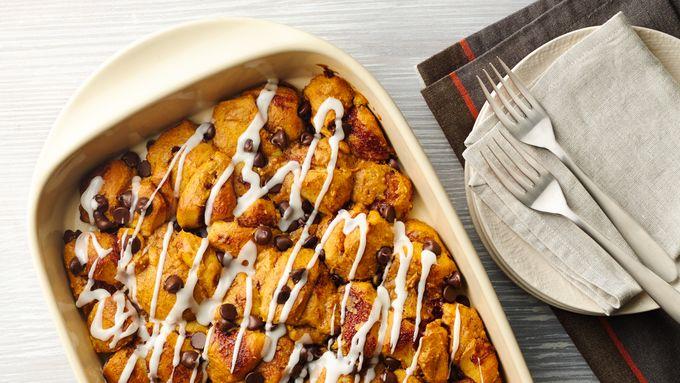 Pumpkin Pie Bubble-Up Breakfast Bake