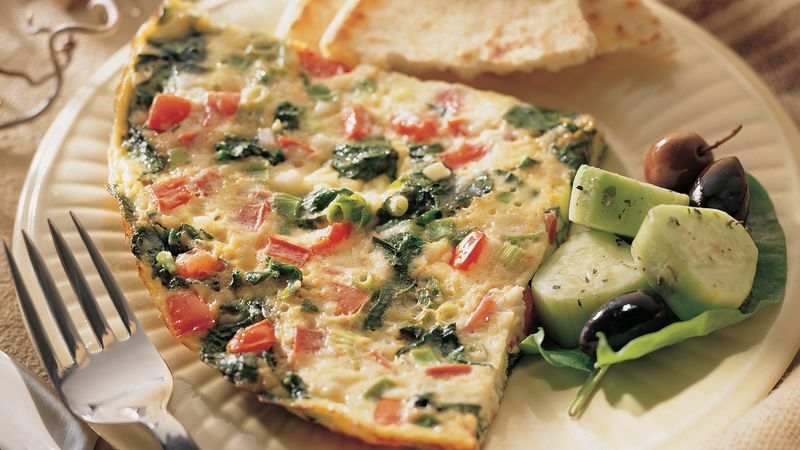 Spinach and Tomato Frittata