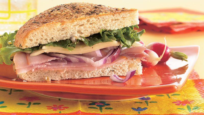 Ham and Mozzarella Sandwich Wedges