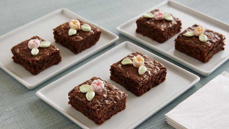 Spring Flower Brownies