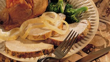 Slow-Cooker Garlic Pork Roast