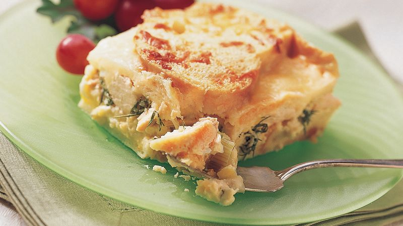 Do-Ahead Chicken-Leek Strata