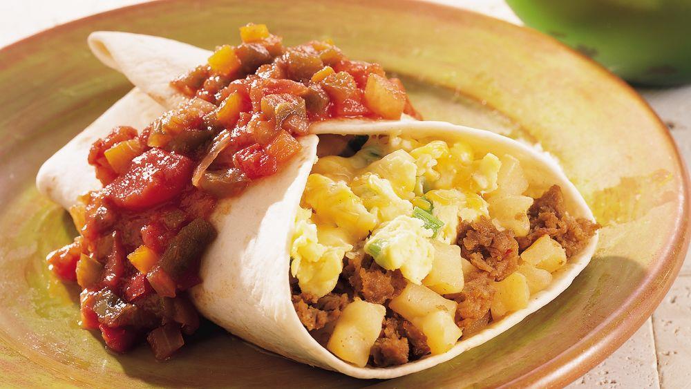 Chorizo and Egg Breakfast Burritos