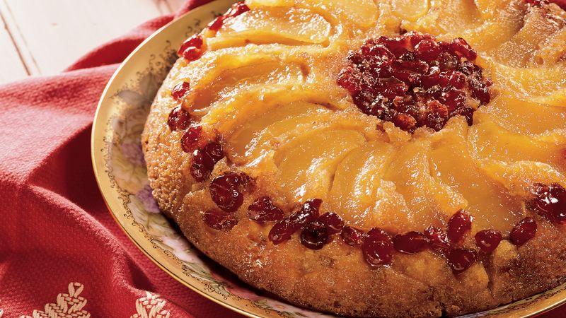 Apple-Cranberry Upside-Down Cake