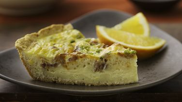 Cheddar and Bacon Quiche