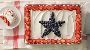 Angel Food Pudding Cake With Berries Recipe From Betty Crocker