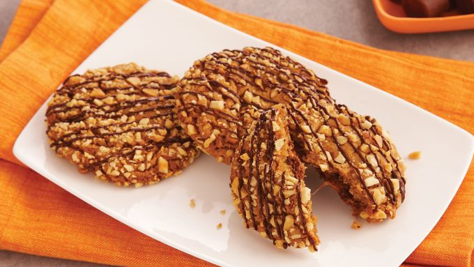 Peanut Caramel Mystery Cookies