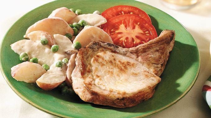 Creamy Potatoes and Pork Chops