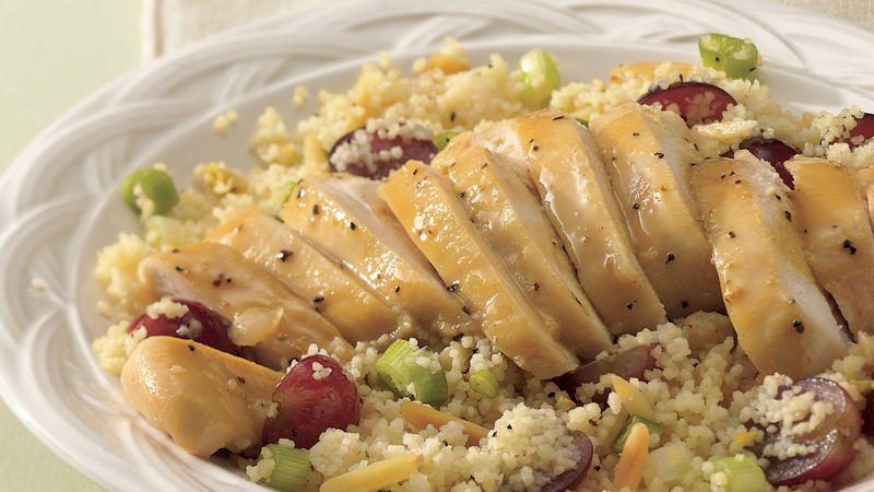 Couscous Salad with Honey-Mustard Chicken