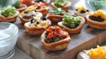 7-Layer Dip Pizza Cupcakes