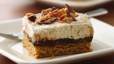 Peanut-Buttery Fudge Bars