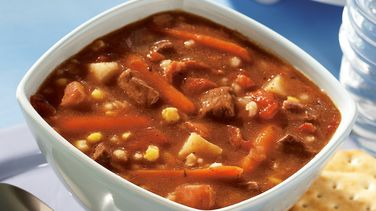 Beef, Bacon and Barley Soup