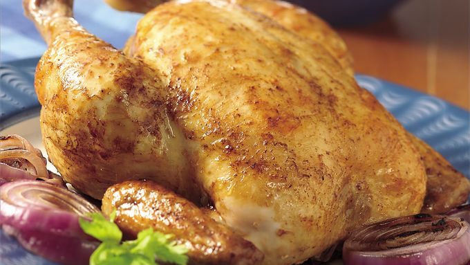Grilled Beer-Brined Whole Chicken