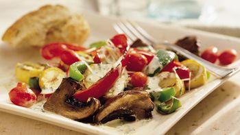 Grilled Caesar Vegetable Salad