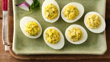 Parsley Deviled Eggs