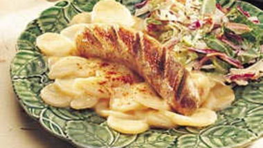 German Potato Salad with Bratwurst