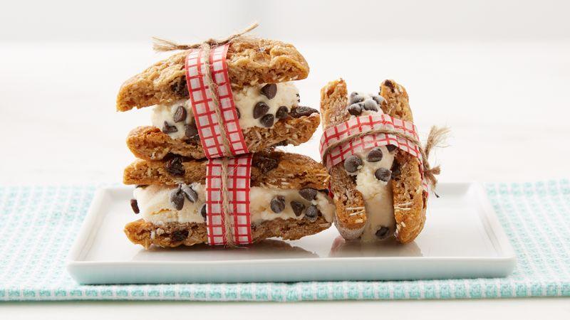 Oatmeal Raisin Cookie Ice Cream Sandwich