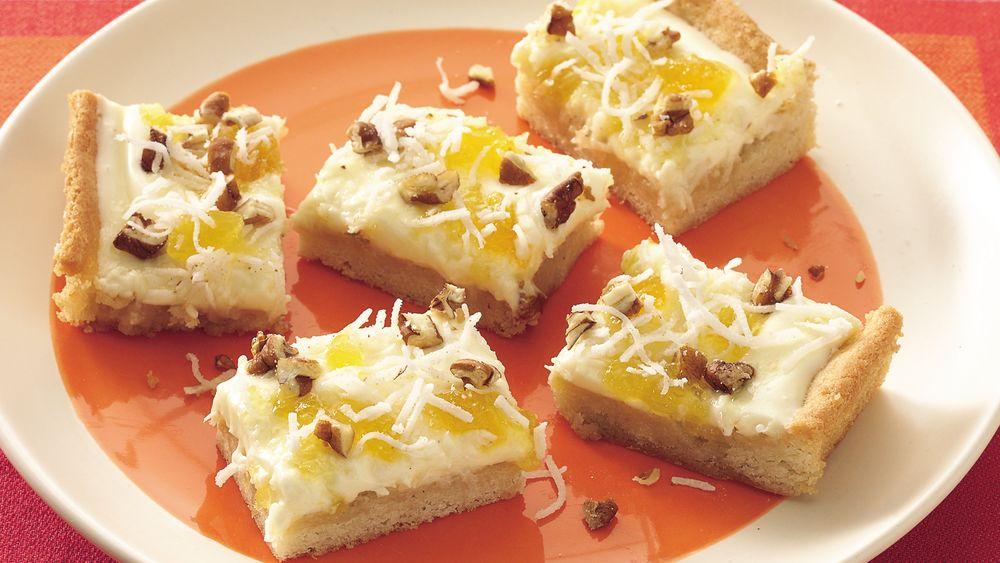Tropical Cheesecake Bars recipe from Pillsbury.com | 1000 x 563 jpeg 90kB