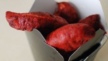 Red Velvet Battered Chicken Fingers