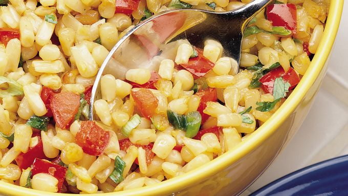 Roasted Corn and Pepper Salad