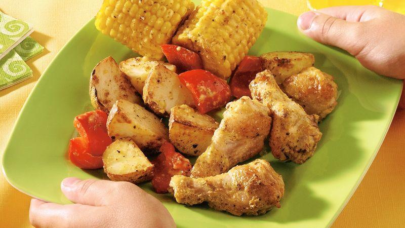 Roasted Chicken Drummie Dinner