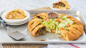 Half-and-Half Taco Crescent Ring