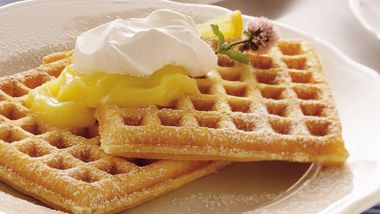 Lemon Cream Pie Waffles