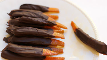 Candied Orange Peel Dipped in Chocolate