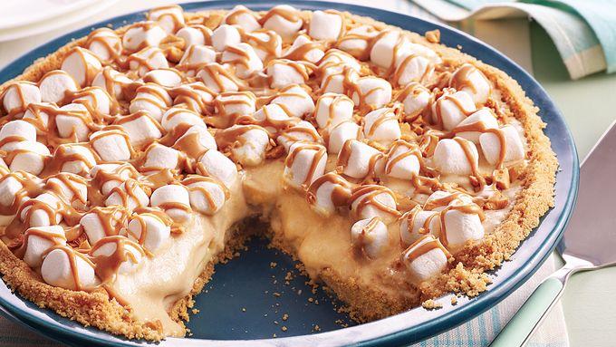 No Bake Peanut Butter Banana Pie