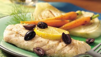 Broiled Snapper with Lemon and Olives
