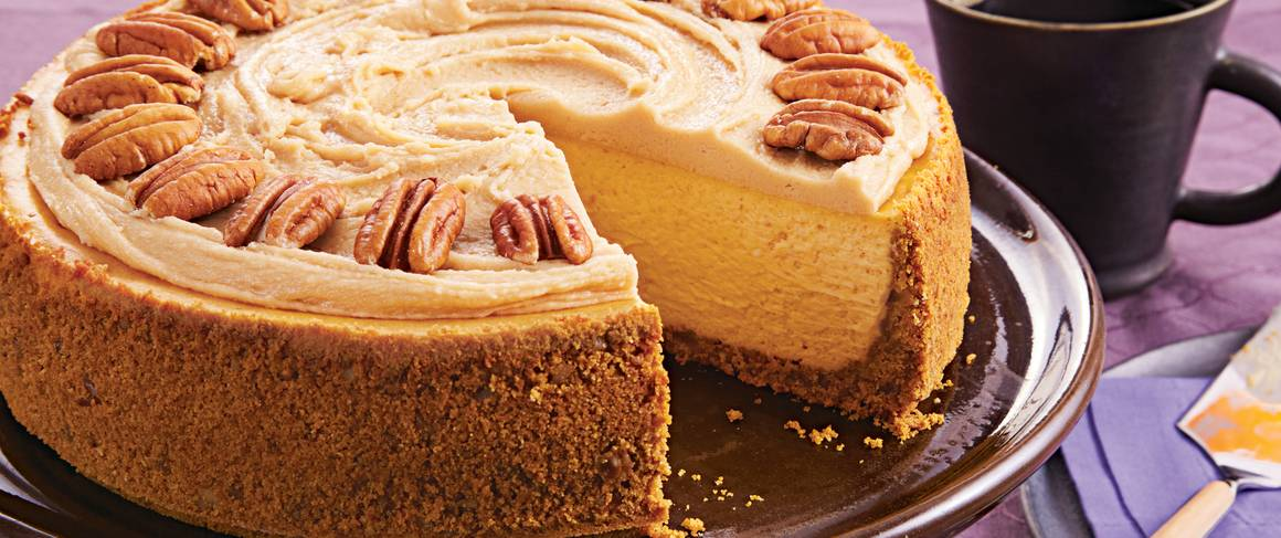 Pumpkin Pecan Cheesecake recipe from Betty Crocker