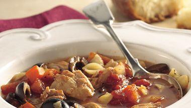 Slow-Cooker Italian Chicken-Pasta Soup