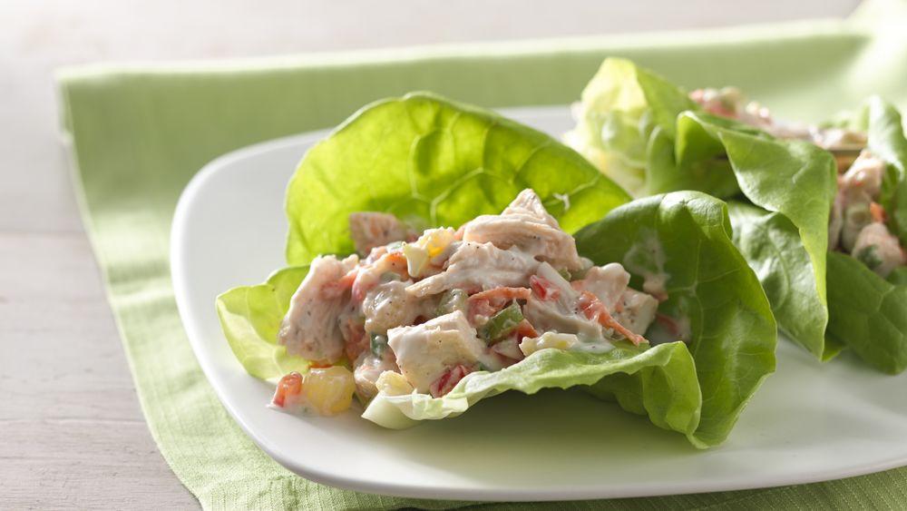 Pineapple Chicken Salad Lettuce Wraps