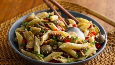 Artichoke, Mushroom and Pasta Salad