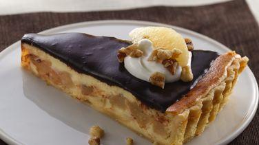 Chocolate, Ginger-Cream and Pear Tart