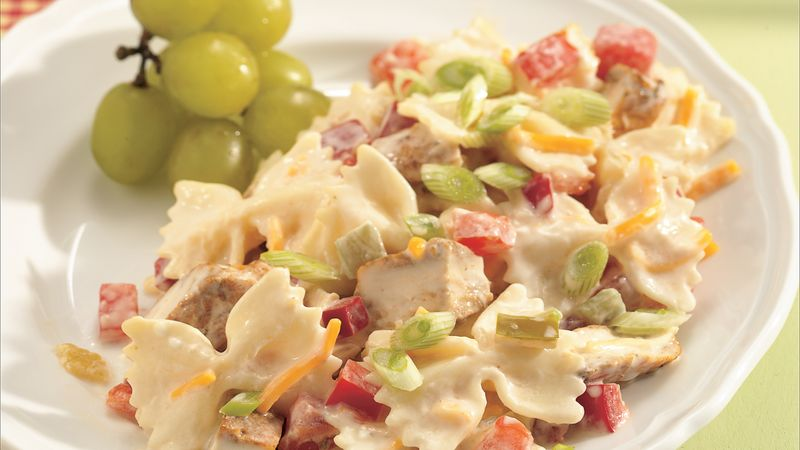 Spicy Chicken and Bow Tie Pasta Salad