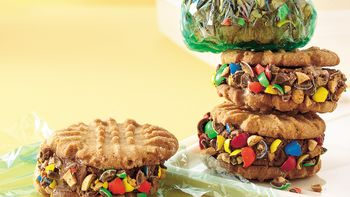 Peanut Butter and Cookie Ice Cream-wiches