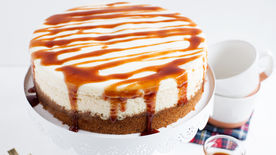 Hot Buttered Rum Cheesecake with Brown Sugar-Rum Sauce ...