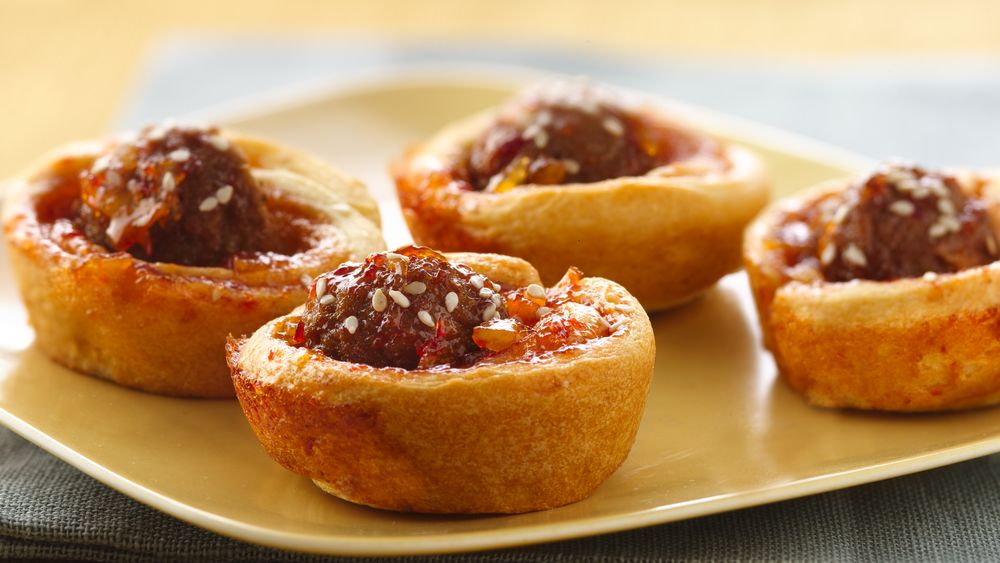 Marmalade-Glazed Asian Meatball Cups