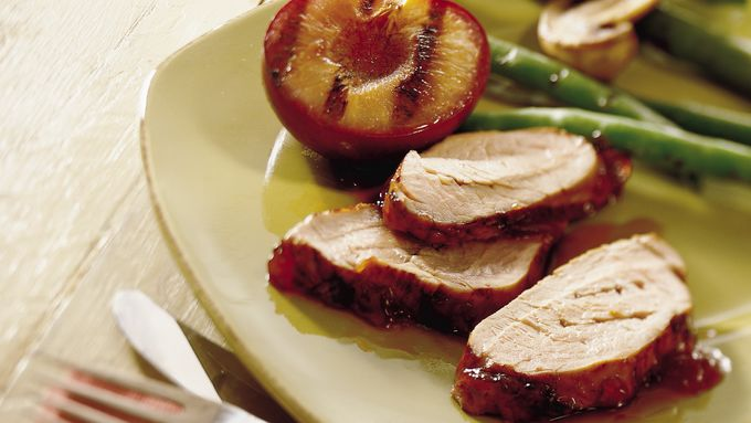 Grilled Pork Tenderloin with Plums