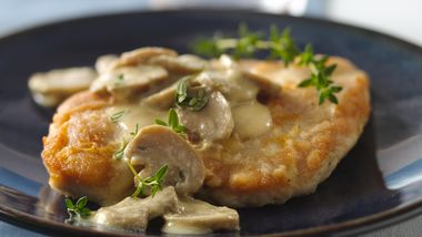 Dijon Chicken Smothered in Mushrooms