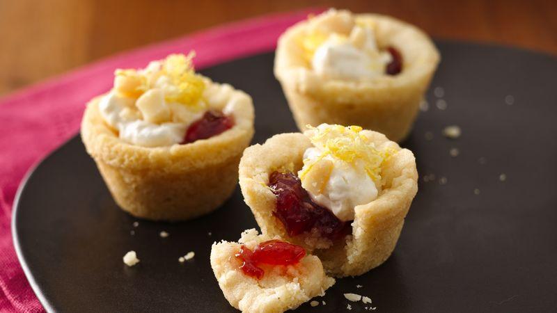 Creamy Lemon-Berry Cookie Cups