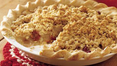 Pear Cherry Streusel Pie