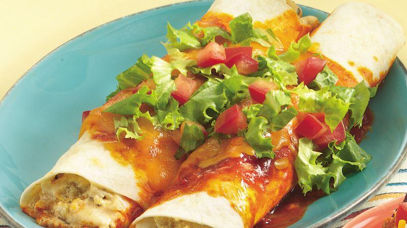 Spicy Chicken Enchiladas for Two