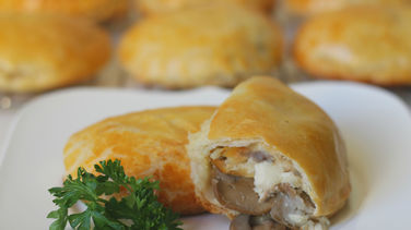 Potato, Chicken and Mushroom Empanadas