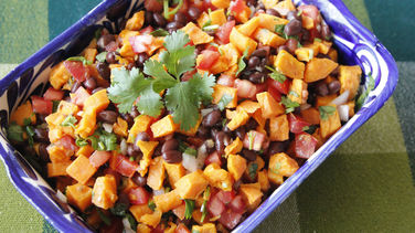 Mexican Sweet Potatoes with Black Beans