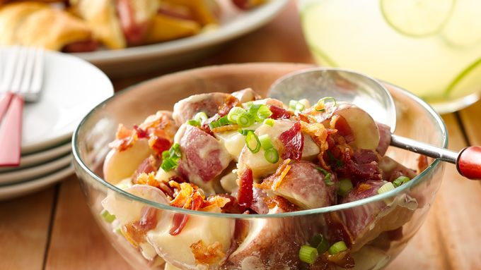 Tangy Potato Salad with Bacon