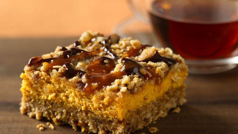 Pumpkin Streusel Cheesecake Bars